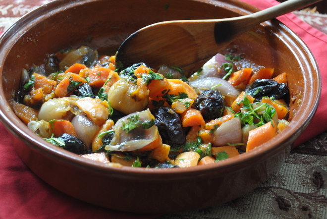 tajine sweet potatoes prunes