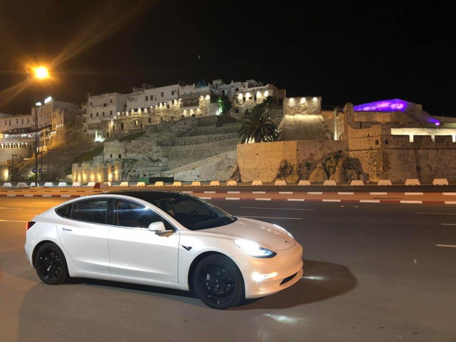 tesla electric car morocco