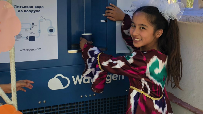 Watergen pulls water from air for orphanage in Uzbekistan