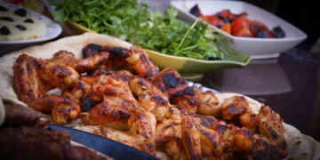 Grilled Chicken Wings With Harissa and Honey