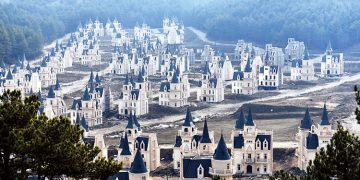 Hundreds of Disney style palaces lay in ruin in Turkey