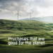wind energy good for planet, spending carbon credits
